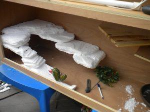 Poner corcho reptil terrario casero